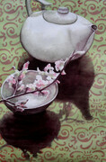 Teapot and Cherry Blossoms